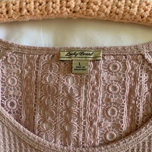 Lucky Brand Tops - Lucky Brand Lace Mixed Thermal Shirt